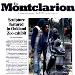 montclarion: sculpture featured in oakland zoo exhibit