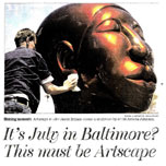 maryland sun: it's july in baltimore? this must be artscape
