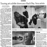 sf chronicle : touring art exhibit showcases black bay area artists
